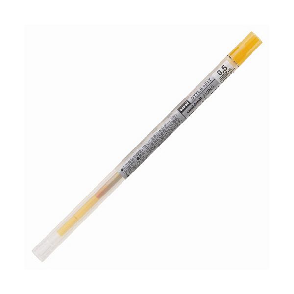 三菱鉛筆(uni) STYLE FIT(スタイルフィット) シグノインク リフィル芯 0.5mm ゴールデンイエロー UMR-109-05 1本(直送品)