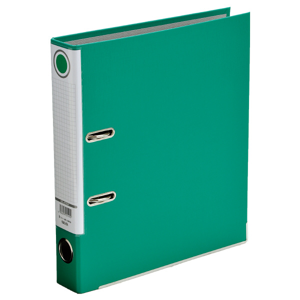 レバー式アーチファイル A4タテ 背幅50mm 10冊 グリーン SGLAF5GR ハピラ