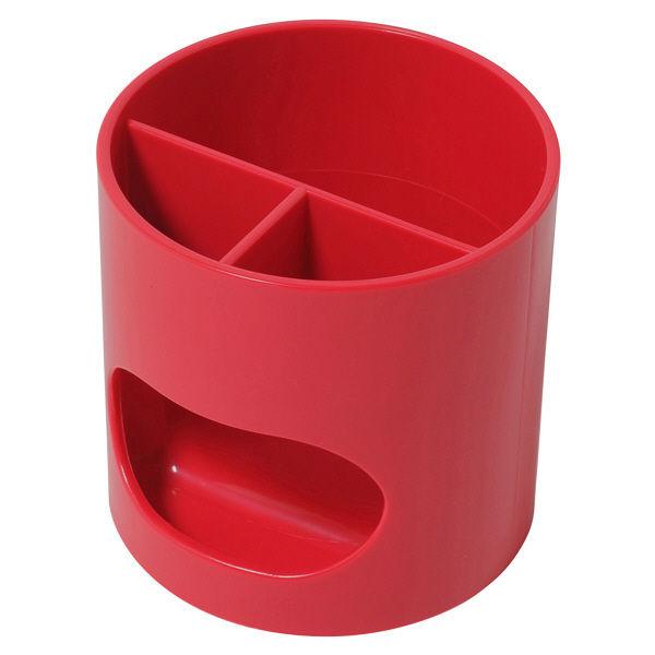 ペン立て 赤 プラス