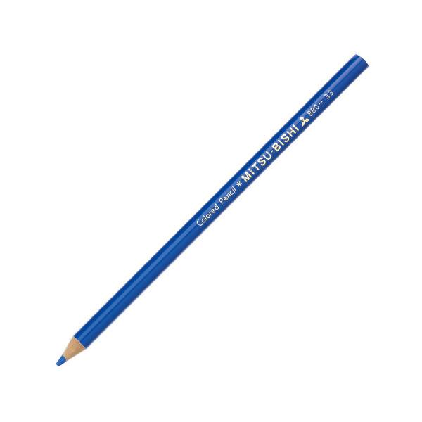 三菱鉛筆 色鉛筆 青 K880.33 1箱(12本入) (直送品)