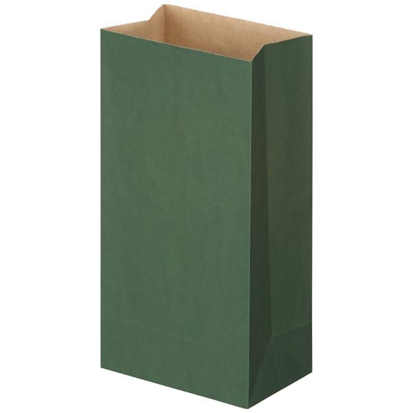 カラー角底袋 深緑 12号 500枚入