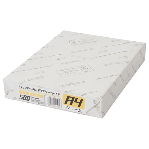 大王製紙 ダイオーマルチカラープリンタ用紙 76411 A4 1箱(2500枚入) クリーム色