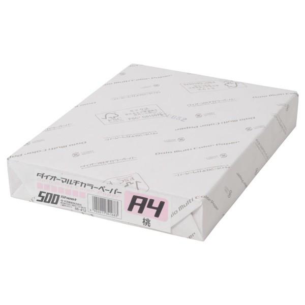 大王製紙 ダイオーマルチカラープリンタ用紙 76412 A4 1箱(2500枚入) 桃色