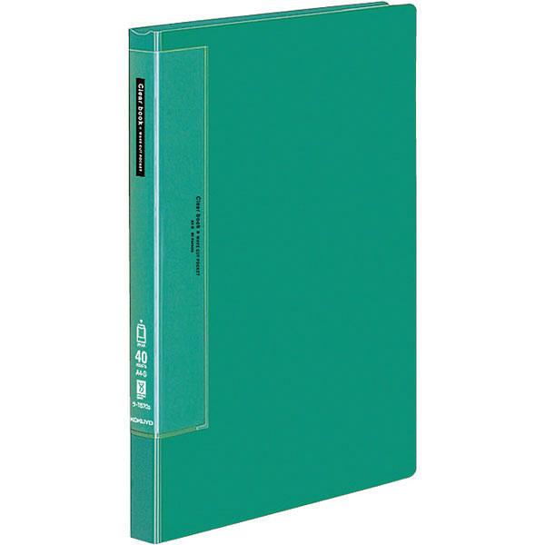 クリヤーブック A4縦40P 緑 20冊