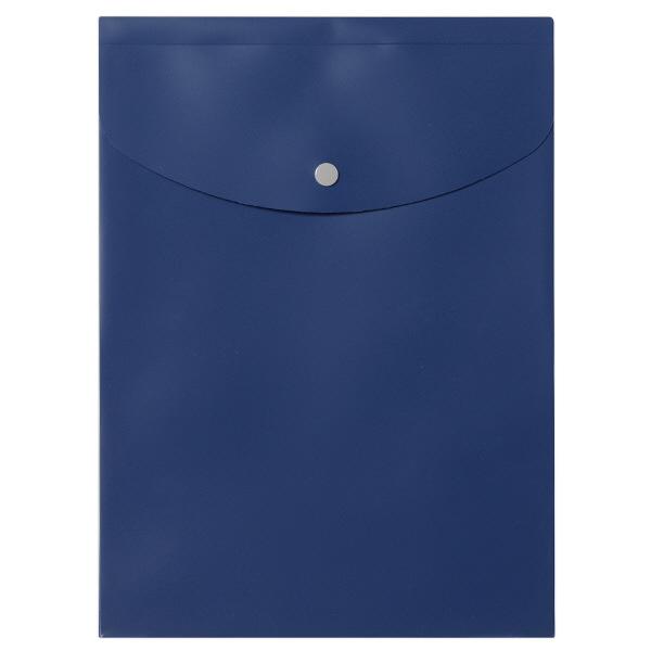 プラス シンプルワーク ポケット付エンベロープマチ付 A4タテ ブルー 88271 1セット(50枚:10枚入×5)