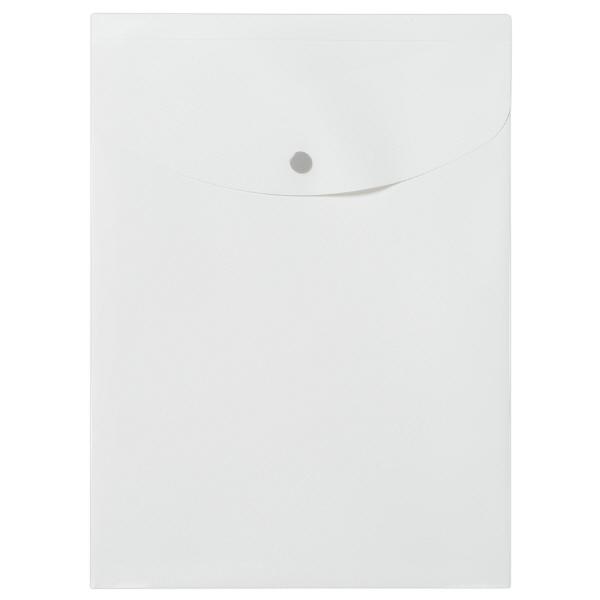 プラス シンプルワーク ポケット付エンベロープマチ付 A4タテ ホワイト 88273 1袋(10枚入)