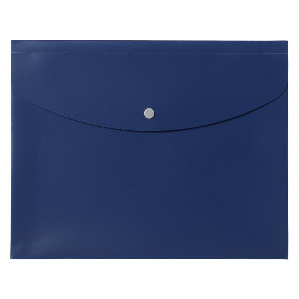 プラス シンプルワーク ポケット付エンベロープマチ付 A4ヨコ ブルー 88571 1袋(10枚入)