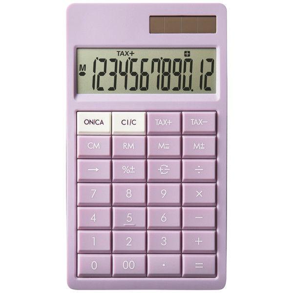 スリムなのに打ちやすい電卓 ピンク