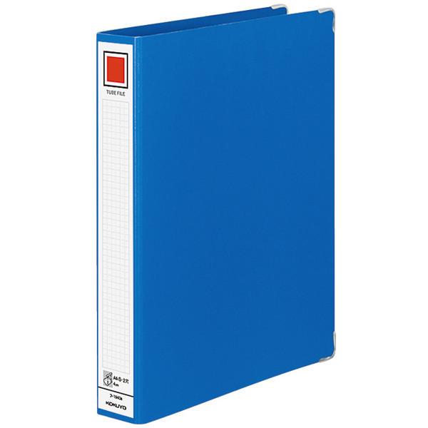 コクヨ チューブファイル(Mタイプ) A4タテ とじ厚40mm 青 フ-1640B 1箱(4冊入)