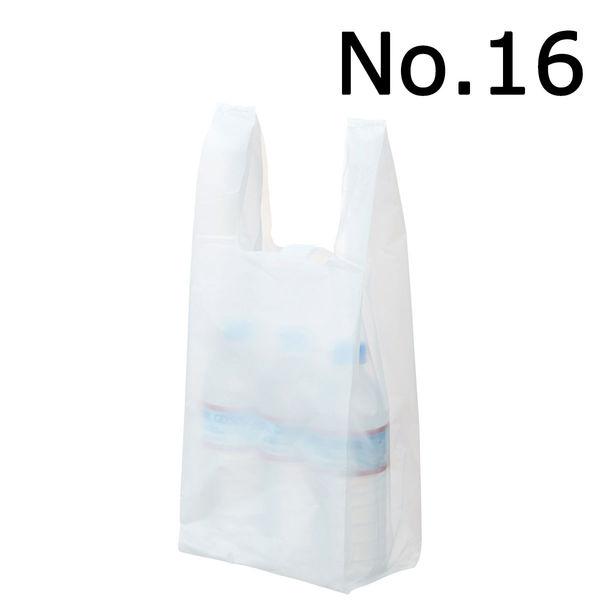 レジ袋 乳白 No.16 100枚