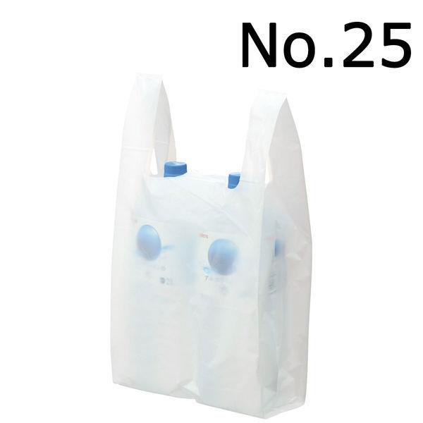 レジ袋 乳白 No.25 100枚