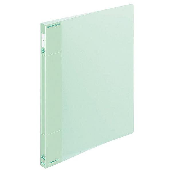コクヨ ポップリングファイル スリム A4タテ 2穴 背幅21mm 内径10mm 緑 フ-PS410G 10冊入