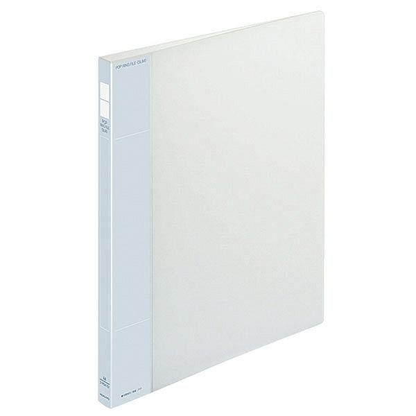 コクヨ ポップリングファイル スリム A4タテ 2穴 背幅21mm 内径10mm 透明 フ-PS410T 10冊入