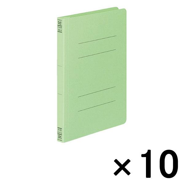 フラットファイルV A5タテ 緑 10冊