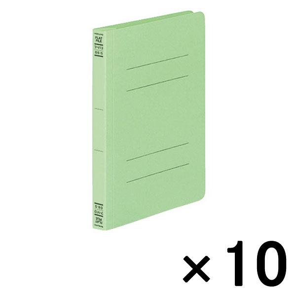コクヨ フラットファイルV B6タテ 緑 フ-V13G 10冊
