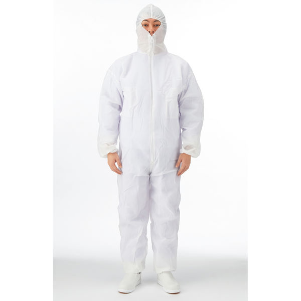 川西工業 「現場のチカラ」 使い捨て防塵服 Lサイズ 1セット(30着入)
