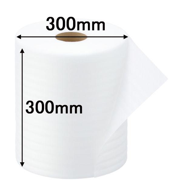 「現場のチカラ」フォームクッション 300mm×50m巻 白 1セット(3巻:1巻×3) 川上産業
