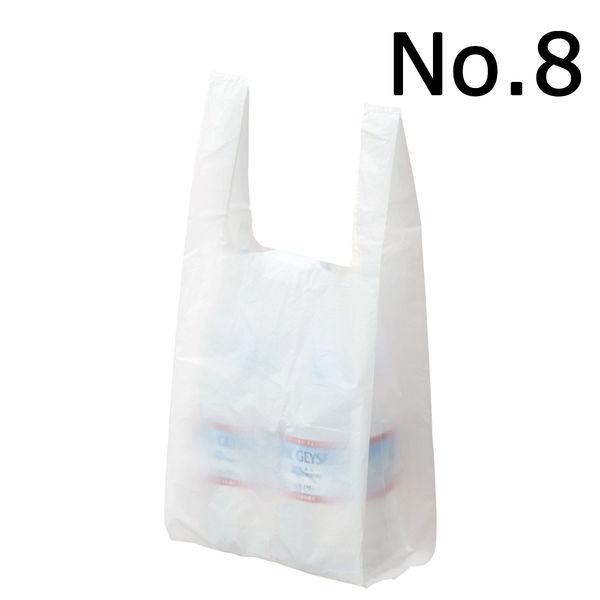 レジ袋 乳白 No.8 6000枚