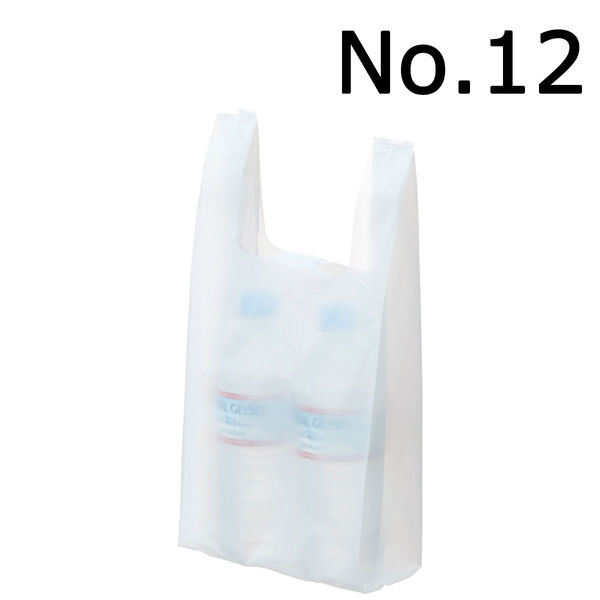 レジ袋 乳白 No.12 1000枚