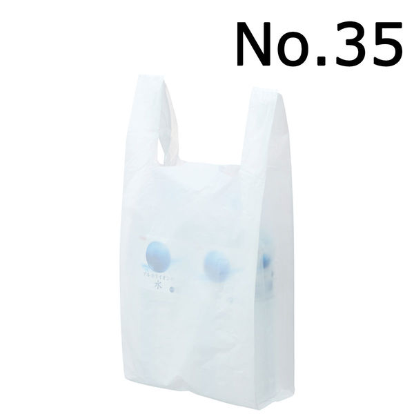 レジ袋 乳白 No.35 1000枚