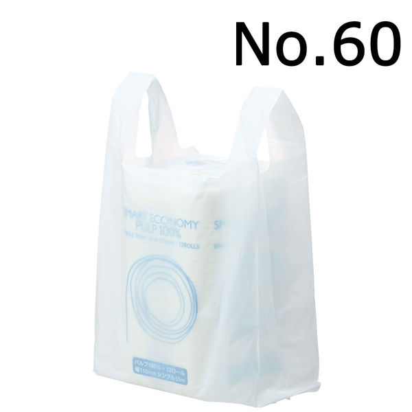 レジ袋 乳白 No.60 6000枚