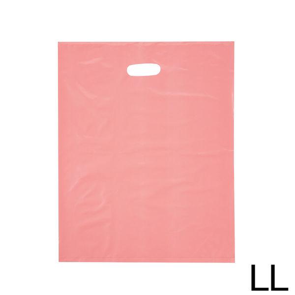 手提げポリ袋 ピンク LL 250枚