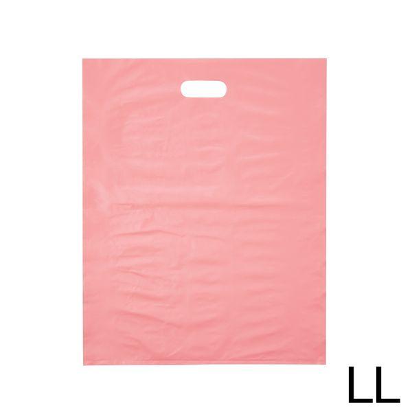 手提げポリ袋 ピンク LL 500枚
