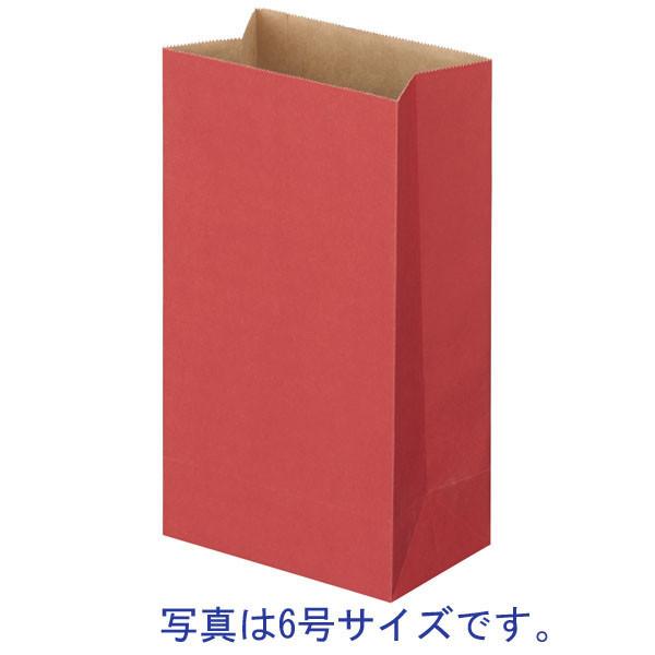 カラー角底袋 赤 8号