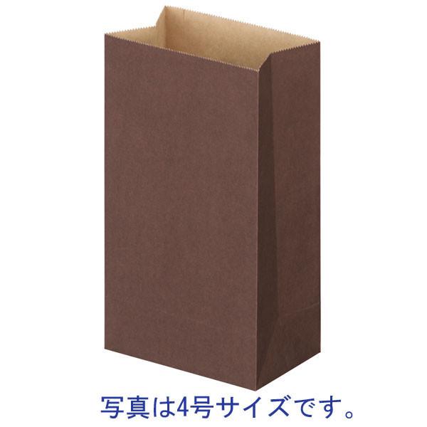 「現場のチカラ」カラー角底袋 こげ茶 8号 1セット(1000枚:500枚入×2袋) スーパーバッグ