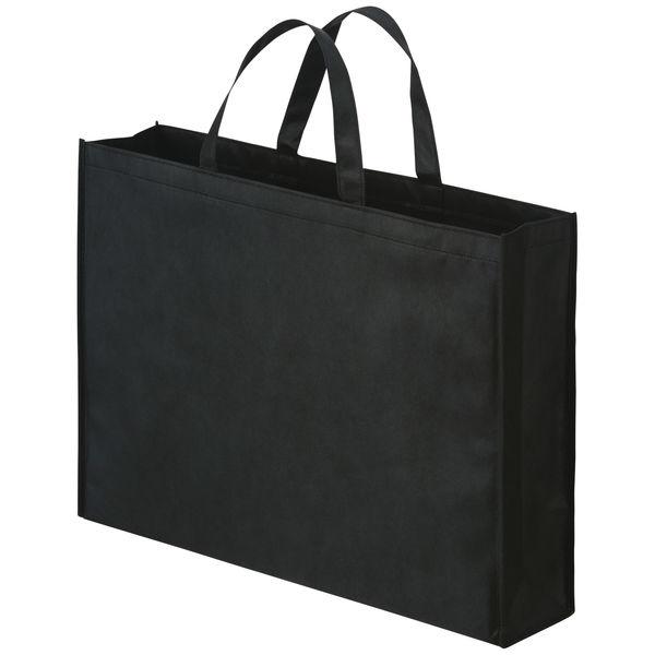 不織布手提げ袋 ブラック 大 100枚