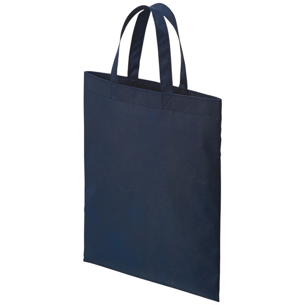 不織布手提げ袋 ブルー A4 50枚