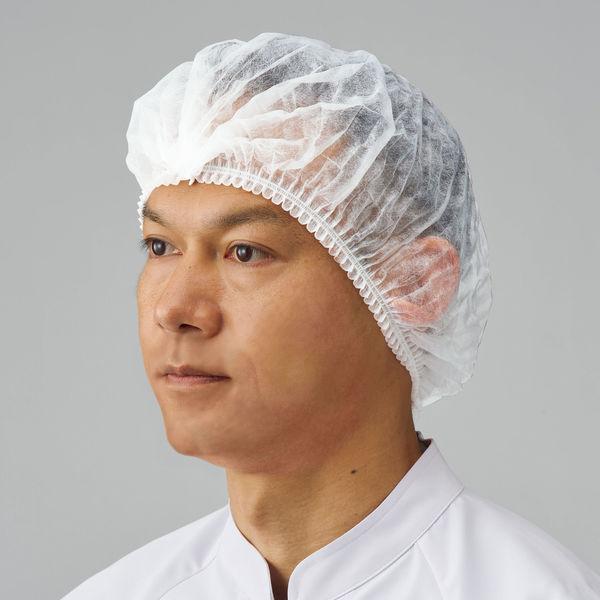「現場のチカラ」 川西工業 使い切りキャップ ホワイト 1セット(4000枚:100枚入×40箱)