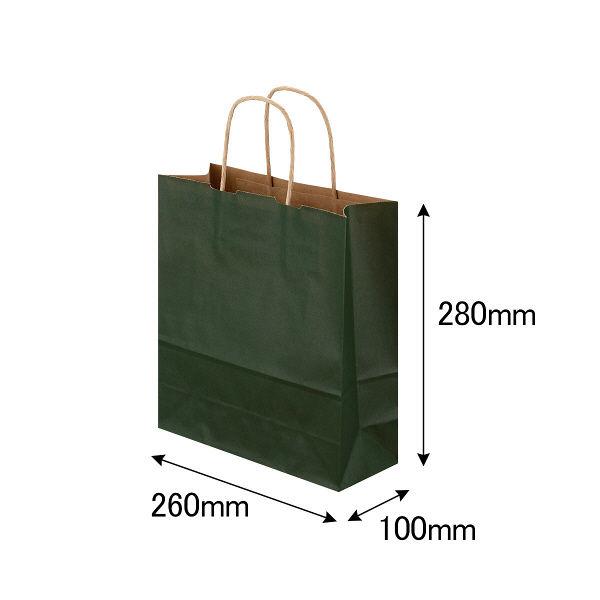 丸紐 手提げ紙袋 深緑 S 300枚