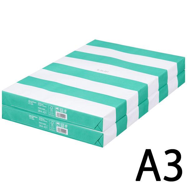コピー用紙 マルチペーパー マイナス6% A3 1セット(1000枚:500枚入×2冊) 国内生産品 FSC認証 アスクル