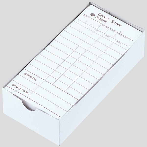 アスクル CHECK SHEET お会計票 単票連番なし 8000枚(500枚×16箱)