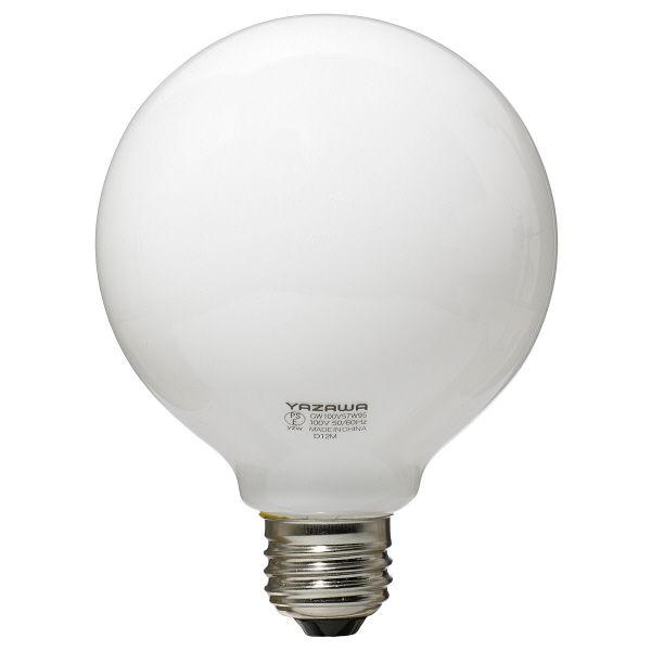 ボール電球 白 60W形 GW100V57W95 ヤザワコーポレーション