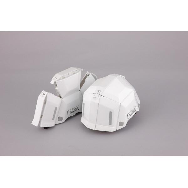 トーヨーセフティー 防災用折りたたみヘルメット ブルーム2 No.101 ホワイト 1個