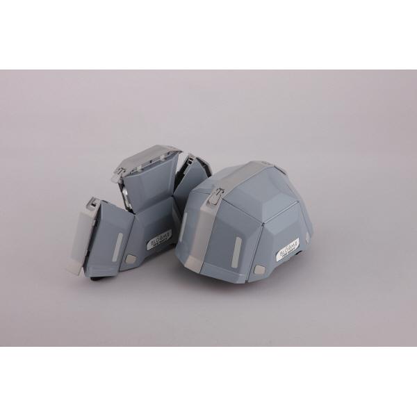 トーヨーセフティー 防災用折りたたみヘルメット ブルーム2 No.101 グレー 1個