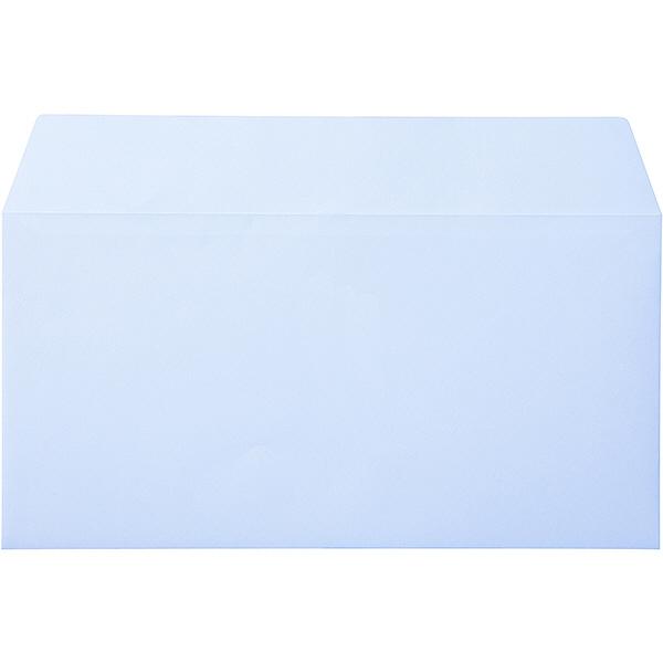 ムトウユニパック ナチュラルカラー封筒 長3横型 アクア 500枚(100枚×5袋)