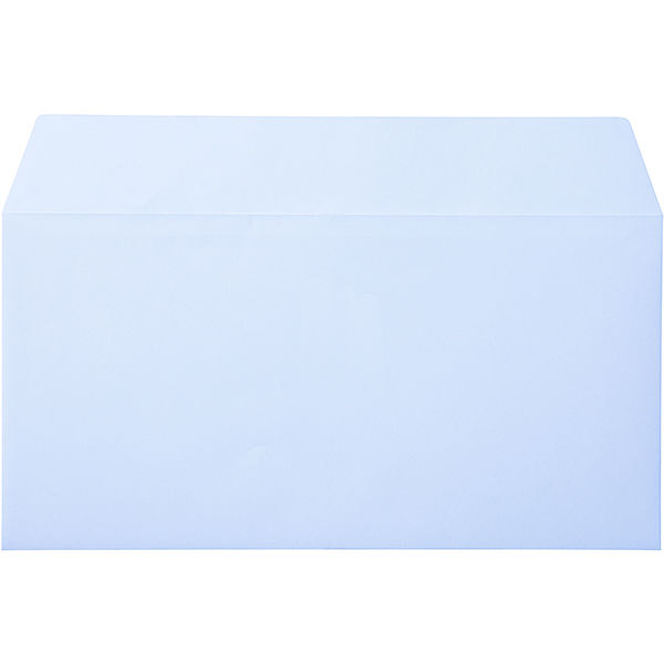 ムトウユニパック ナチュラルカラー封筒 長3横型 アクア テープ付 300枚(100枚×3袋)