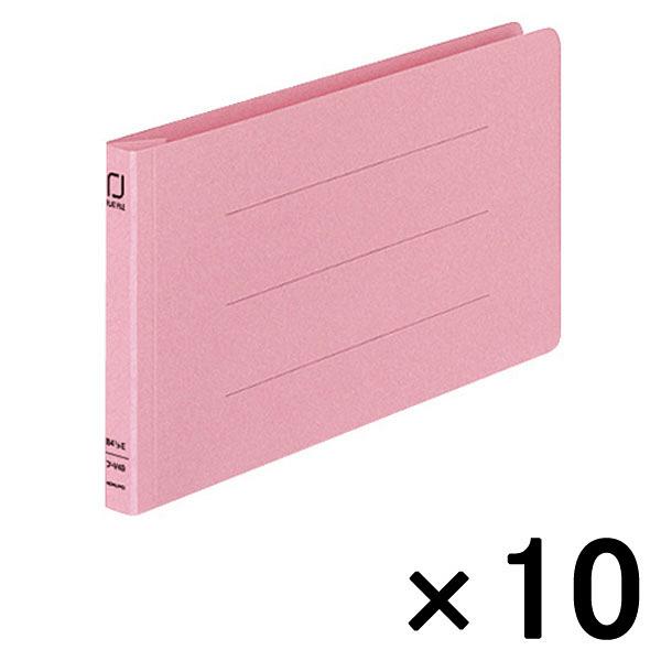 コクヨ 統一伝票用フラットファイル樹脂製とじ具 B4 1/3横 ピンク フ-V49P 1袋(10冊入)
