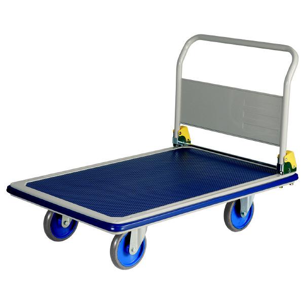 耐荷重スチール台車(ハンドル折畳式) 500kg耐荷重 NHT-501 (直送品)