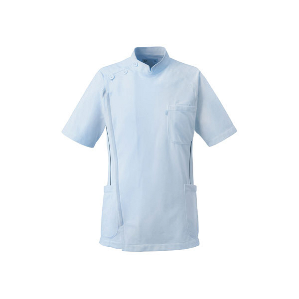 ミズノ ユナイト ケーシージャケット(男性用) サックス L MZ0049 医療白衣 1枚 (取寄品)