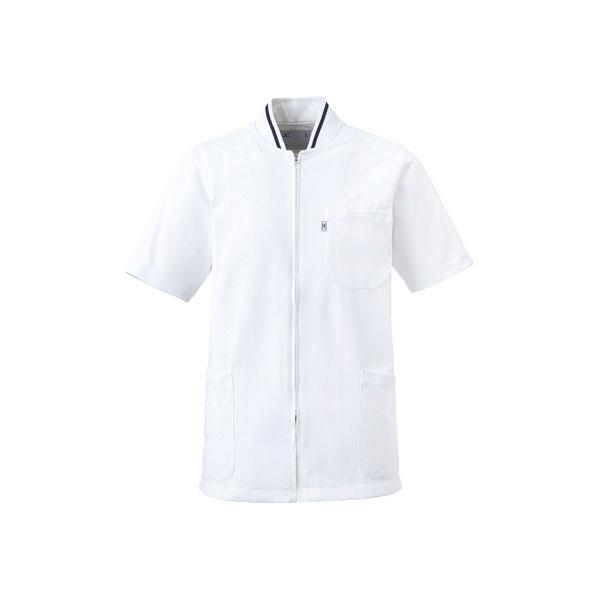 ミズノ ユナイト ケーシージャケット(男女兼用) ホワイト L MZ0050 医療白衣 1枚 (取寄品)