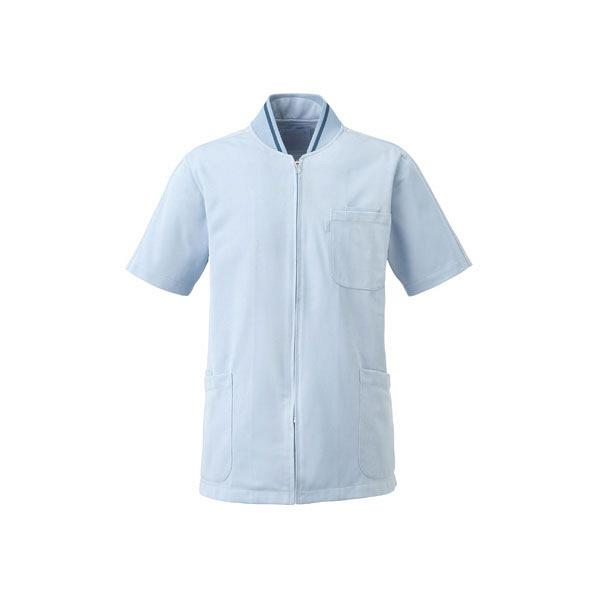 ミズノ ユナイト ケーシージャケット(男女兼用) サックス 3L MZ0050 医療白衣 1枚 (取寄品)