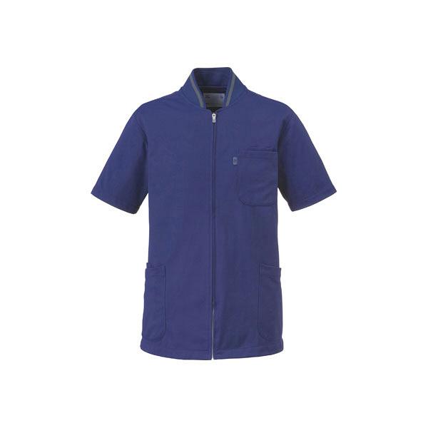 ミズノ ユナイト ケーシージャケット(男女兼用) ネイビー LL MZ0050 医療白衣 1枚 (取寄品)