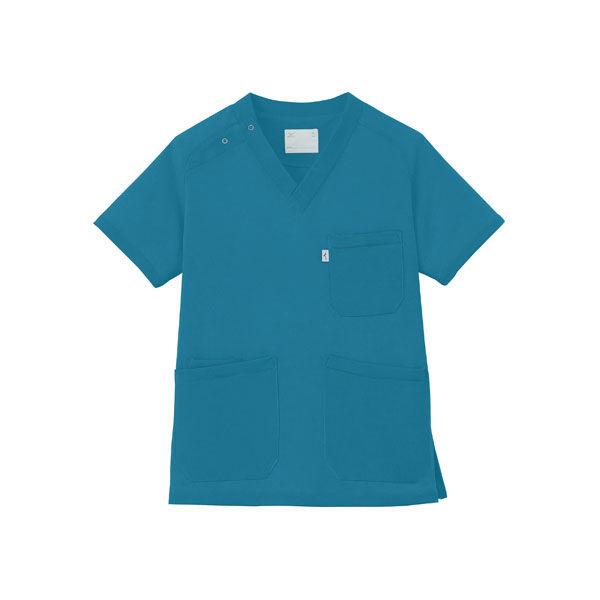 ミズノ ユナイト ニットスクラブ(男女兼用) ターコイズブルー 3L MZ0084 医療白衣 1枚 (取寄品)