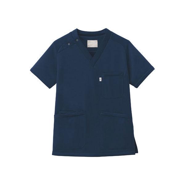 ミズノ ユナイト ニットスクラブ(男女兼用) ネイビー SS MZ0084 医療白衣 1枚 (取寄品)