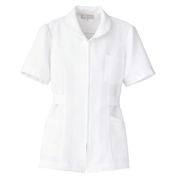 AITOZ(アイトス) ナースジャケット(パイピング) 女性用 半袖 ホワイト L 861338-001
