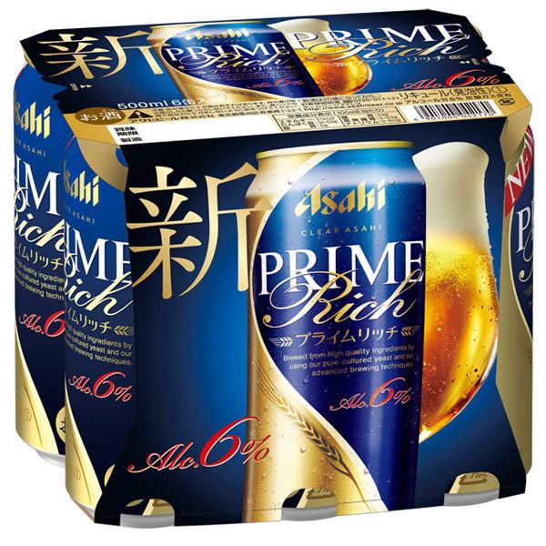 クリアアサヒ Pリッチ 500ml 6缶